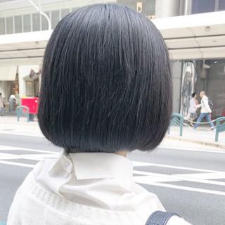 ショートボブ ナチュラル 黒髪 ボブ ヘアスタイルや髪型の写真・画像 ヘアスタイルや髪型の写真・画像