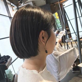 最新トリートメント 透明感カラー 大人可愛い 大人グラボブ ヘアスタイルや髪型の写真・画像