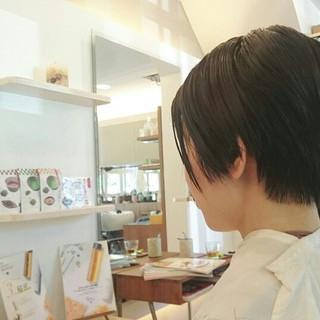 上品 ショート 黒髪 大人女子 ヘアスタイルや髪型の写真・画像