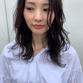 黒髪 デート ヘアアレンジ ミディアム ヘアスタイルや髪型の写真・画像