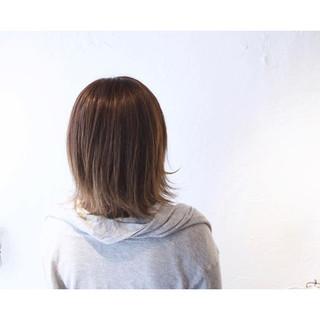 色気 ナチュラル ミルクティー ボブ ヘアスタイルや髪型の写真・画像