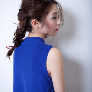簡単ヘアアレンジ ショート 春 セミロング ヘアスタイルや髪型の写真・画像 ヘアスタイルや髪型の写真・画像