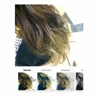 イルミナカラー エレガント ハイライト ロング ヘアスタイルや髪型の写真・画像