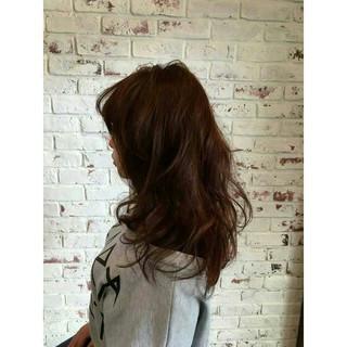 フェミニン モテ髪 レッド ピンク ヘアスタイルや髪型の写真・画像
