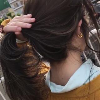 ヘアアレンジ ナチュラル ハイライト ポニーテール ヘアスタイルや髪型の写真・画像 ヘアスタイルや髪型の写真・画像
