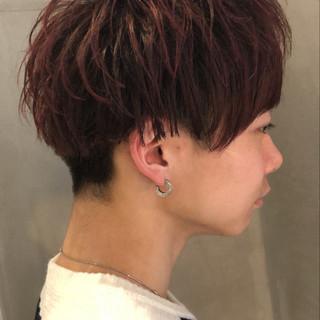 ナチュラル メンズカラー メンズカット 赤髪 ヘアスタイルや髪型の写真・画像