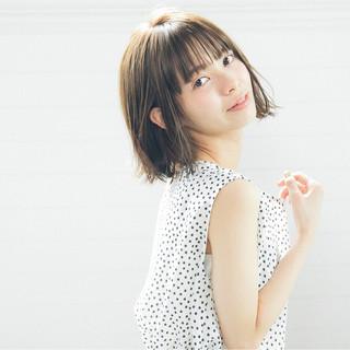 デート 大人かわいい 抜け感 前髪あり ヘアスタイルや髪型の写真・画像