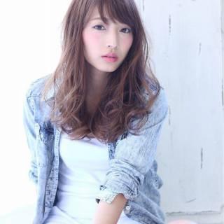 シースルーバング 大人かわいい マルサラ モテ髪 ヘアスタイルや髪型の写真・画像
