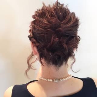大人かわいい 簡単ヘアアレンジ アップスタイル ルーズ ヘアスタイルや髪型の写真・画像 ヘアスタイルや髪型の写真・画像