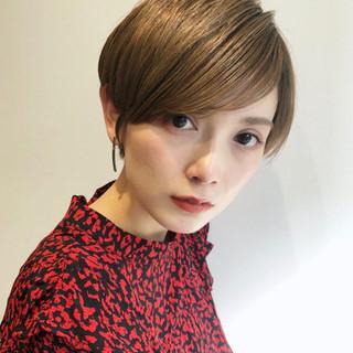 モード オフィス ヘアアレンジ ショート ヘアスタイルや髪型の写真・画像