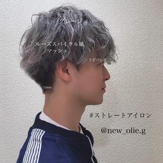 マッシュ パーマ ショート モテ髪 ヘアスタイルや髪型の写真・画像