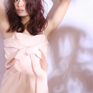 大人かわいい 外国人風 ミディアム ブラウン ヘアスタイルや髪型の写真・画像