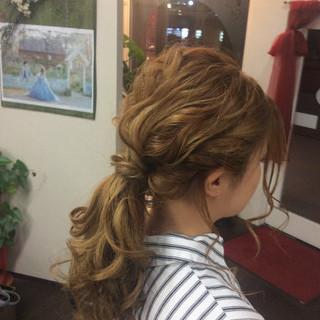 ヘアアレンジ ロング ナチュラル 簡単ヘアアレンジ ヘアスタイルや髪型の写真・画像