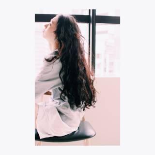 黒髪 ロング 抜け感 束感 ヘアスタイルや髪型の写真・画像