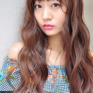 ロング ハロウィン グラデーションカラー ブラウン ヘアスタイルや髪型の写真・画像