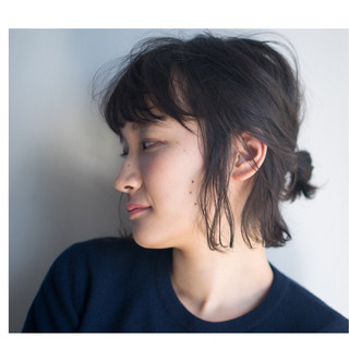 ショート ヘアアレンジ ナチュラル モード ヘアスタイルや髪型の写真・画像