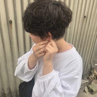 デート 黒髪 ショート 簡単ヘアアレンジ ヘアスタイルや髪型の写真・画像 ヘアスタイルや髪型の写真・画像