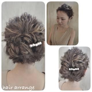 簡単ヘアアレンジ ヘアアレンジ 結婚式 コンサバ ヘアスタイルや髪型の写真・画像