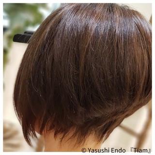 ノースタイリング ボブ ナチュラル イルミナカラー ヘアスタイルや髪型の写真・画像