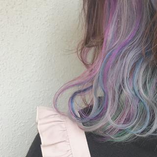カラーバター インナーカラー ダブルカラー ボブ ヘアスタイルや髪型の写真・画像