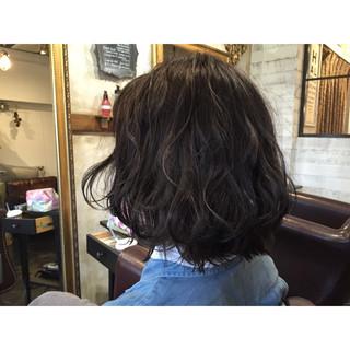 アッシュ 外国人風 暗髪 ボブ ヘアスタイルや髪型の写真・画像