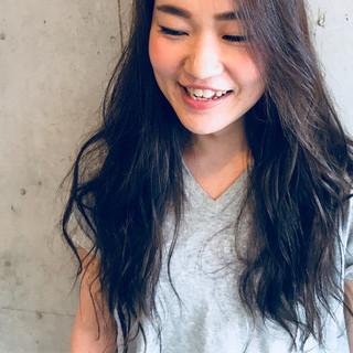 アッシュ 女子力 オフィス ロング ヘアスタイルや髪型の写真・画像