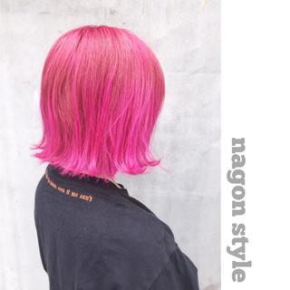 ラズベリーピンク ベリーピンク ストリート ラベンダーピンク ヘアスタイルや髪型の写真・画像