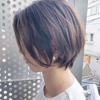 ショート ヘアアレンジ ショートボブ ナチュラル ヘアスタイルや髪型の写真・画像