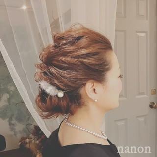 ロング クリスマス ヘアアレンジ フェミニン ヘアスタイルや髪型の写真・画像