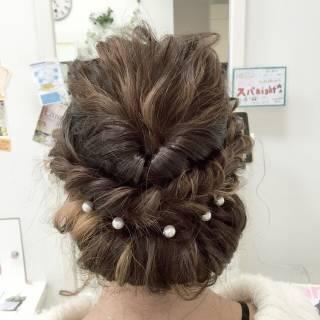 波ウェーブ 編み込み ヘアアレンジ ストリート ヘアスタイルや髪型の写真・画像