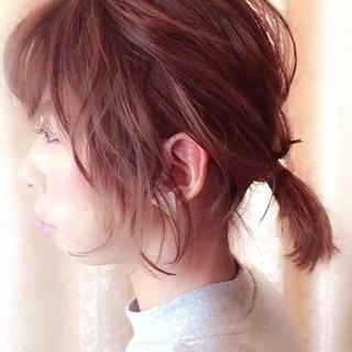 ナチュラル ウェーブ ヘアアレンジ オフィス ヘアスタイルや髪型の写真・画像 ヘアスタイルや髪型の写真・画像