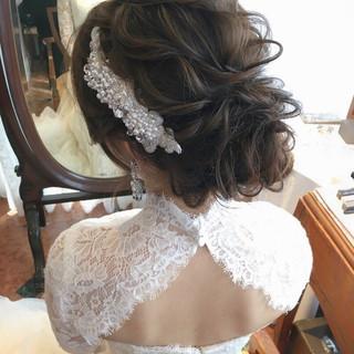 結婚式ヘアアレンジ ヘアアレンジ 大人かわいい 結婚式髪型 ヘアスタイルや髪型の写真・画像