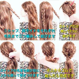 ポニーテールアレンジ ロング エレガント ダウンスタイル ヘアスタイルや髪型の写真・画像