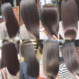 透明感カラー ナチュラル セミロング oggiotto ヘアスタイルや髪型の写真・画像