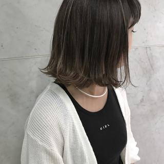 ボブ 透明感 ハイライト 秋 ヘアスタイルや髪型の写真・画像