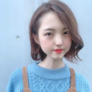 透明感カラー グラデーションボブ デート 大人可愛い ヘアスタイルや髪型の写真・画像
