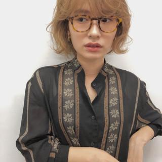 ハイトーン ショートボブ ナチュラル ミニボブ ヘアスタイルや髪型の写真・画像