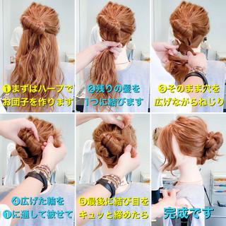 ロングヘア 簡単ヘアアレンジ ヘアアレンジ エレガント ヘアスタイルや髪型の写真・画像