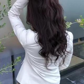 フェミニン エフォートレス ロング 上品 ヘアスタイルや髪型の写真・画像