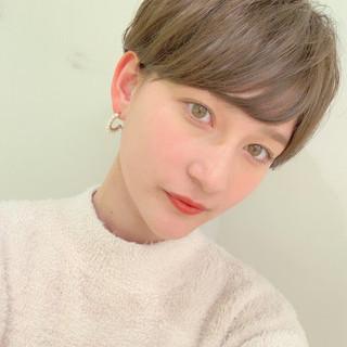 アウトドア パーマ ナチュラル ショート ヘアスタイルや髪型の写真・画像