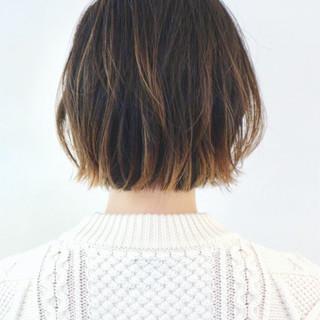 グラデーションカラー インナーカラー ストリート ボブ ヘアスタイルや髪型の写真・画像