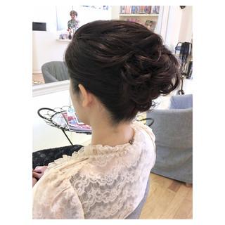 ミディアム 上品 夜会巻 大人かわいい ヘアスタイルや髪型の写真・画像