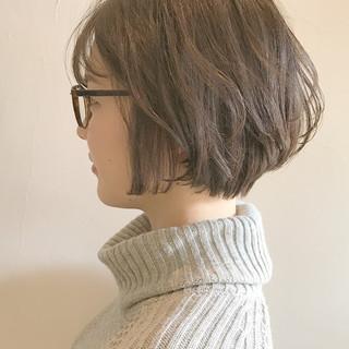 大人女子 オフィス ショート ショートボブ ヘアスタイルや髪型の写真・画像