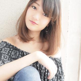 秋 女子会 ミディアム 大人かわいい ヘアスタイルや髪型の写真・画像