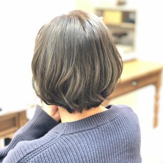 ボブ 切りっぱなしボブ 外国人風カラー ミニボブ ヘアスタイルや髪型の写真・画像
