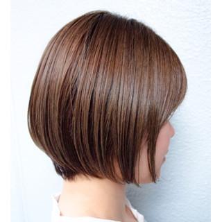 ショートボブ ミニボブ ボブ ハイライト ヘアスタイルや髪型の写真・画像