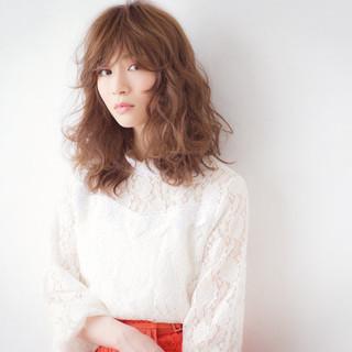 大人かわいい ミディアム 大人女子 モード ヘアスタイルや髪型の写真・画像