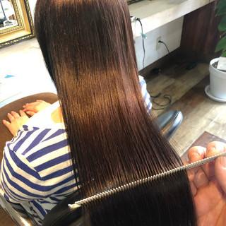 ロング 髪質改善 ナチュラル 髪質改善カラー ヘアスタイルや髪型の写真・画像