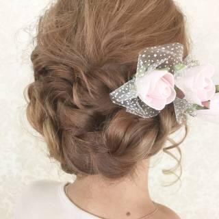 春 モテ髪 ガーリー ナチュラル ヘアスタイルや髪型の写真・画像