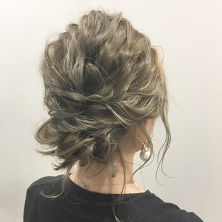波ウェーブ ヘアアレンジ 外国人風 ブラウン ヘアスタイルや髪型の写真・画像